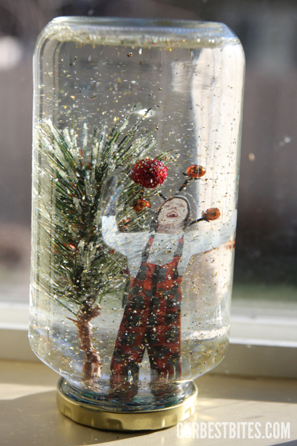 DIY Snow Globes- a great Christmas gift!