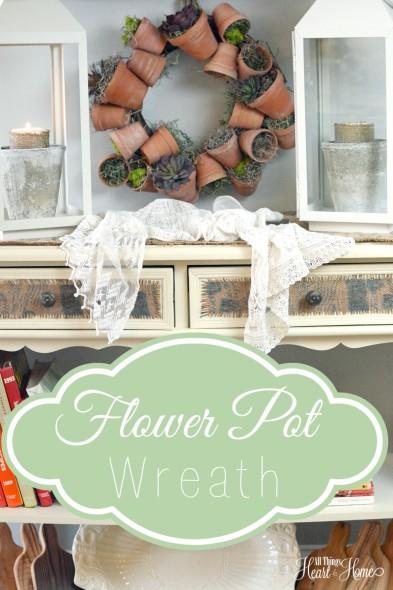 Terra Cotta Flower Pot Wreath