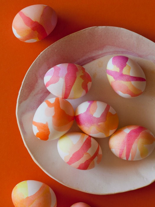Watercolor Decorated Easter Eggs